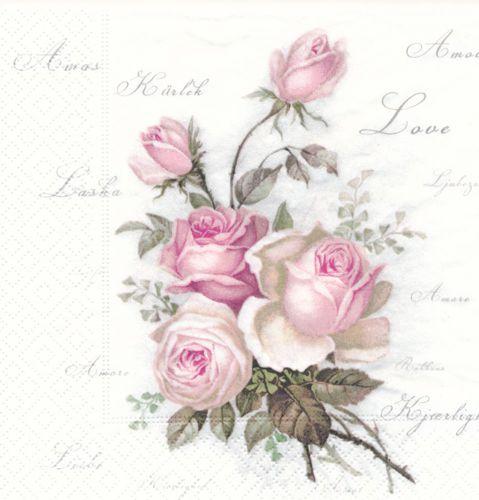 Erikslunds pyssel och decoupage Sagen rosor med k rleks text runt