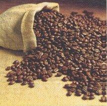 Kaffebönor i säck