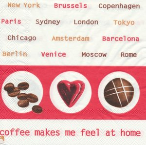 Coffe makes me feel at home