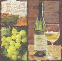 Vitt vin och druvor