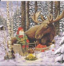 Jultomte och älgen