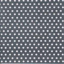 Svart med vita prickar