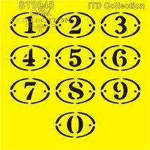 Stencil 16X16 cm  siffror   ST0045