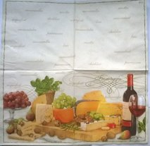 Ost och vin bricka  ( visar hela servetten)   ser1014