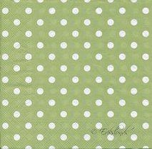 Grön med vita prickar