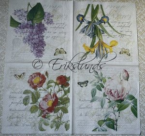 4 st olika blom motiv   8069