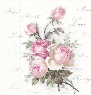 Sagen rosor med kärleks text runt   sag1003