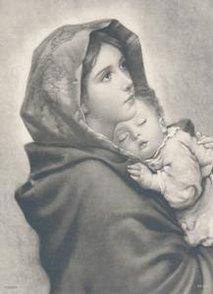 Kort Mor och barn   Storlek: Ca 14 x 9 cm