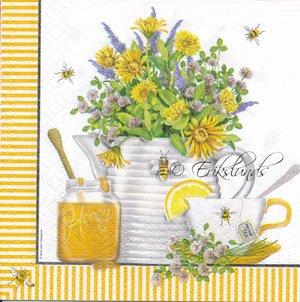 Frukost med the och honung