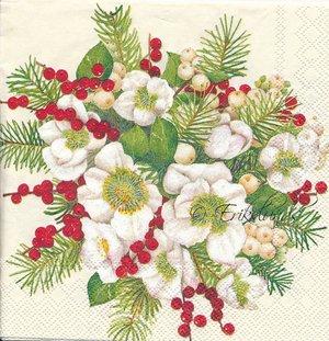 Julrosor i bukett